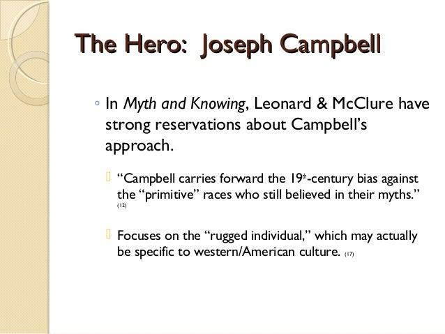 analyzing joseph campbells the hero circle Joseph campbell the unit we have of analyzing the myths and lore of various world materials: copies of hero myth circle outlined by campbell, video clip of.