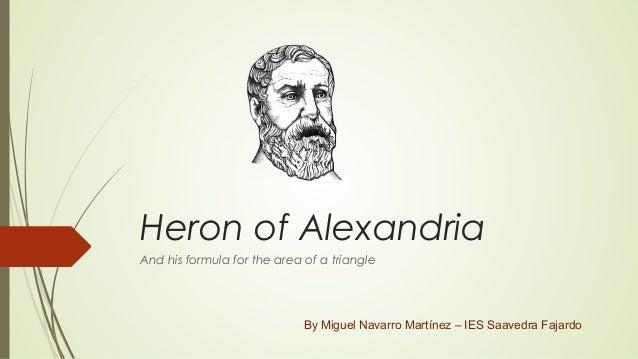 about heron mathematician