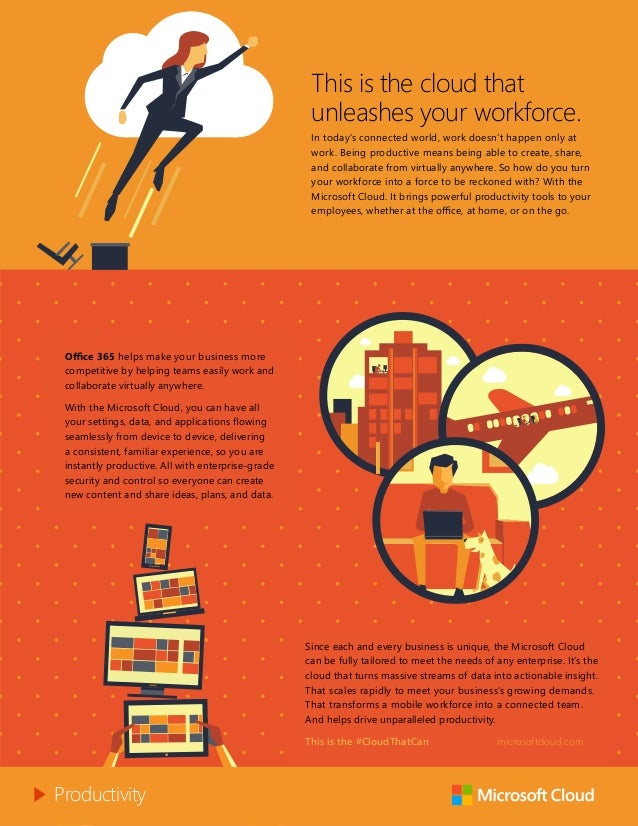 This is the cloud that unleashes your workforce. In today's connected world, work doesn't happen only at work. Being produ...