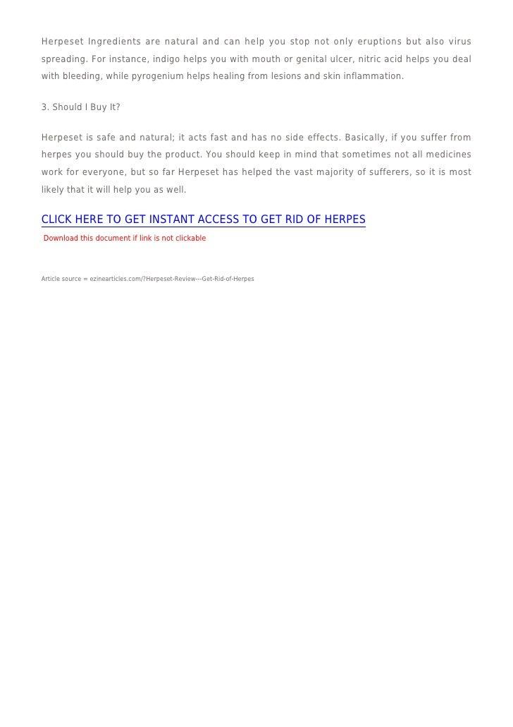 Herpeset Review Get Rid Of Herpes