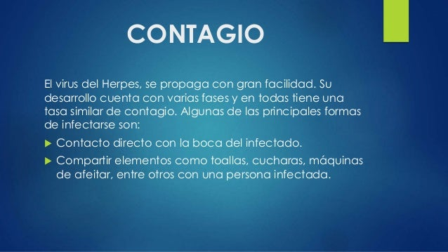 oral to oral herpes