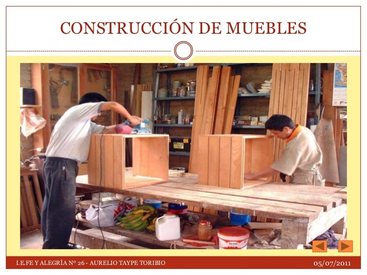 Proceso de construcci n de muebles for Construccion de muebles de madera