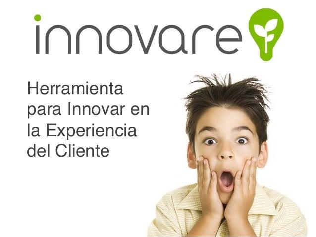 Herramienta para Innovar en la Experiencia del Cliente!