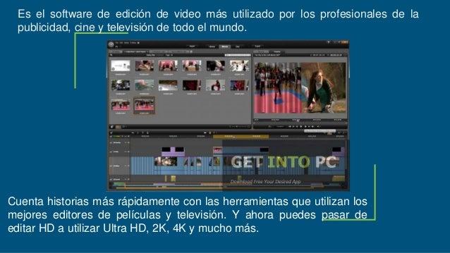 Es el software de edición de video más utilizado por los profesionales de la publicidad, cine y televisión de todo el m...