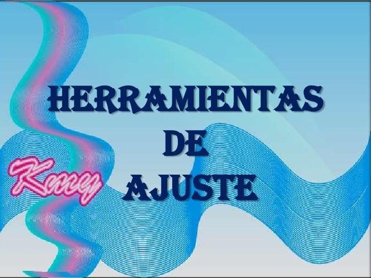 HERRAMIENTAS DE AJUSTE<br />