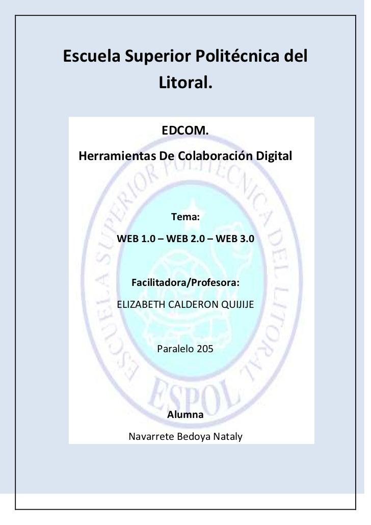 Escuela Superior Politécnica del Litoral.<br />320675284480<br />EDCOM.<br />Herramientas De Colaboración Digital<br />Tem...