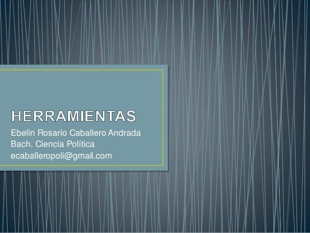 Ebelin Rosario Caballero Andrada Bach. Ciencia Política ecaballeropoli@gmail.com