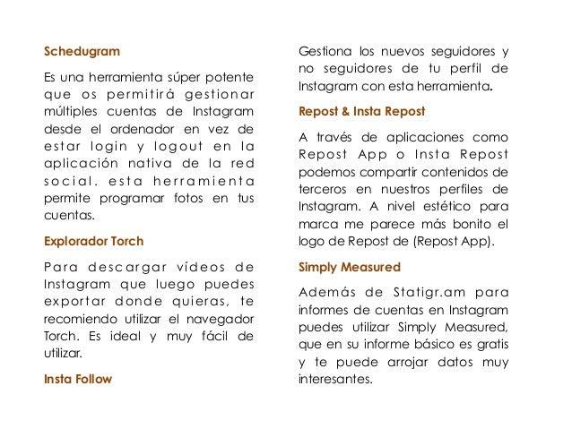 Schedugram  Es una herramienta súper potente  que os per mitirá gestionar  múltiples cuentas de Instagram  desde el ordena...