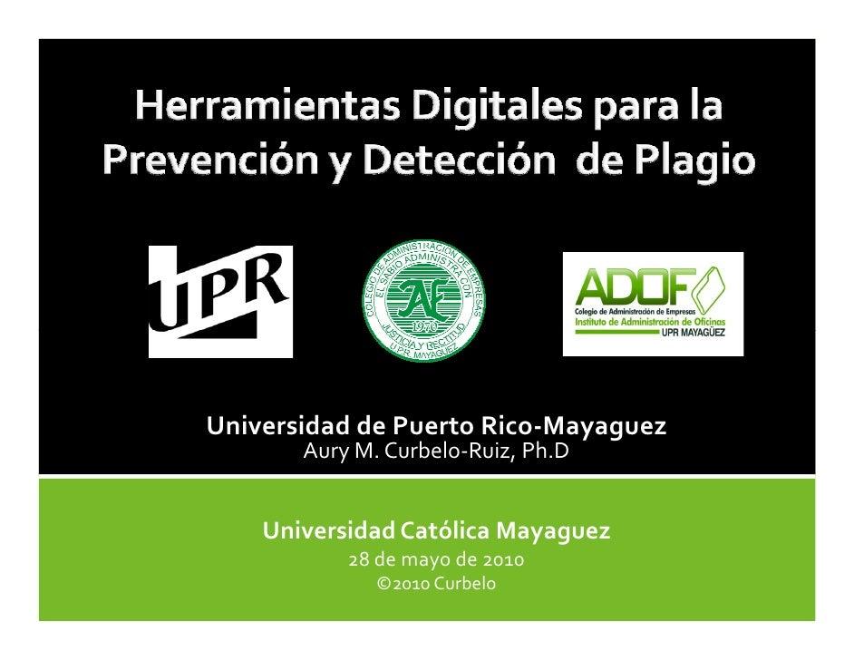 HerramientasDigitales para la Prevención y Detección de Plagio
