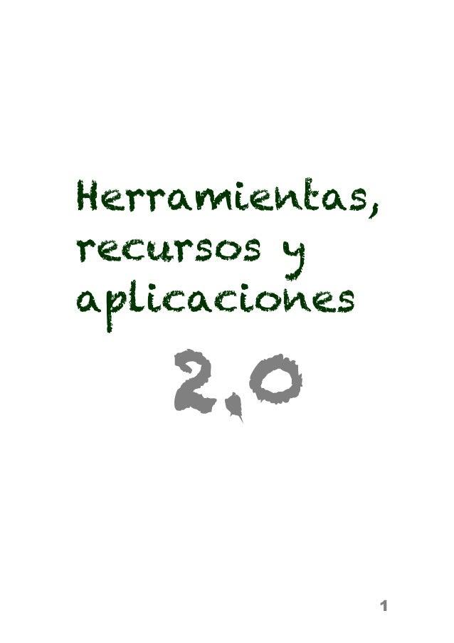 1 Herramientas, recursos y aplicaciones 2.0