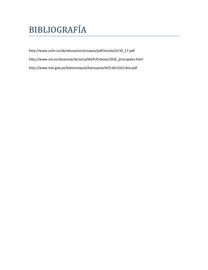 BIBLIOGRAFÍAhttp://www.uclm.es/ab/educacion/ensayos/pdf/revista10/10_17.pdfhttp://www.um.es/docencia/barzana/IAGP/Enlaces/...