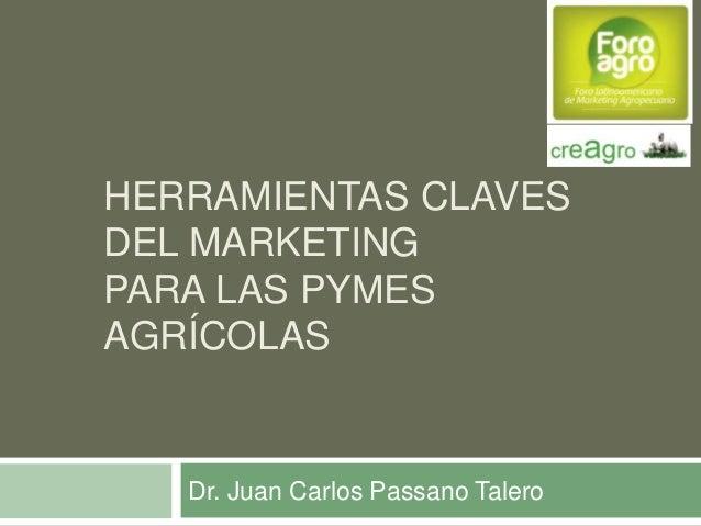HERRAMIENTAS CLAVES DEL MARKETING PARA LAS PYMES AGRÍCOLAS  Dr. Juan Carlos Passano Talero