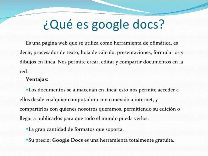 Herramientas colaborativas google docs for Google docs que significa