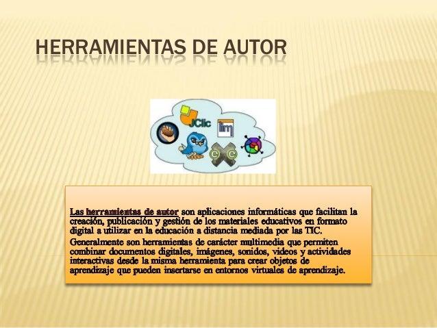 HERRAMIENTAS DE AUTOR