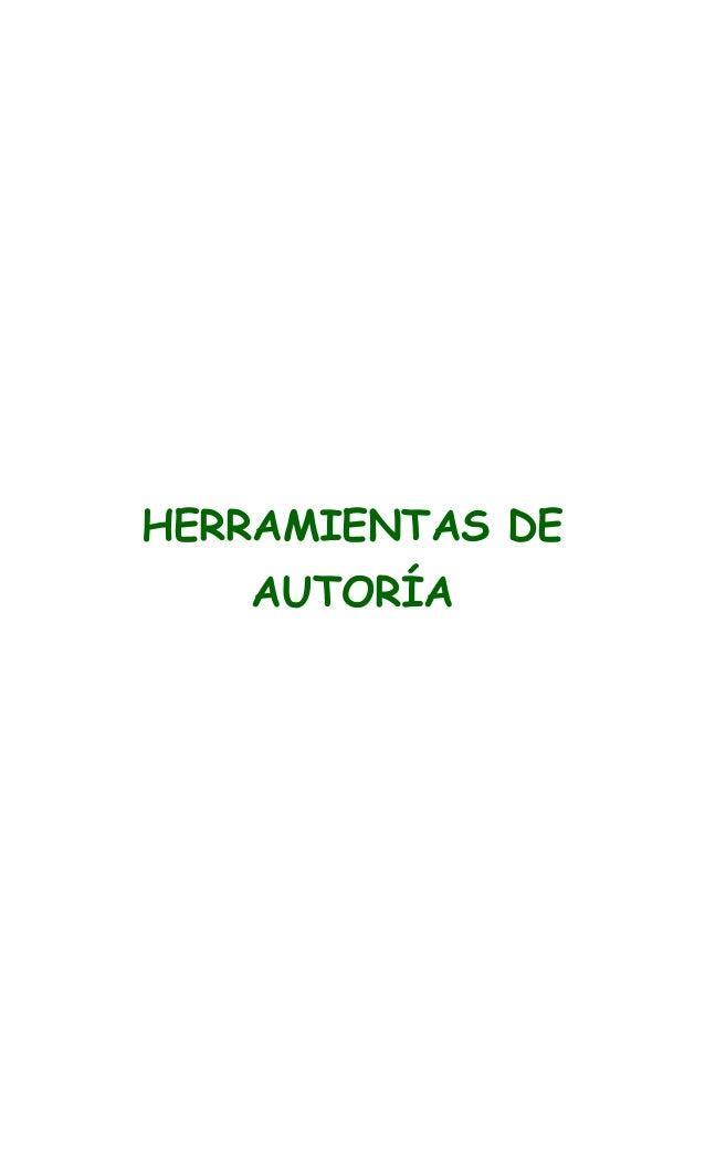 HERRAMIENTAS DE AUTORÍA