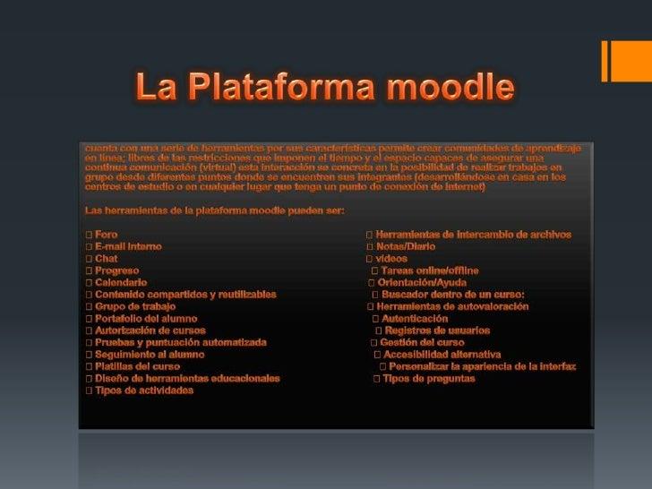 Herramientas de la plataforma moodle Slide 2