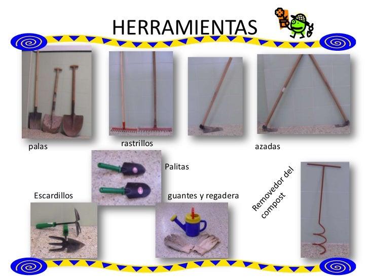 Herramientas del huerto for Herramientas que se utilizan en un vivero