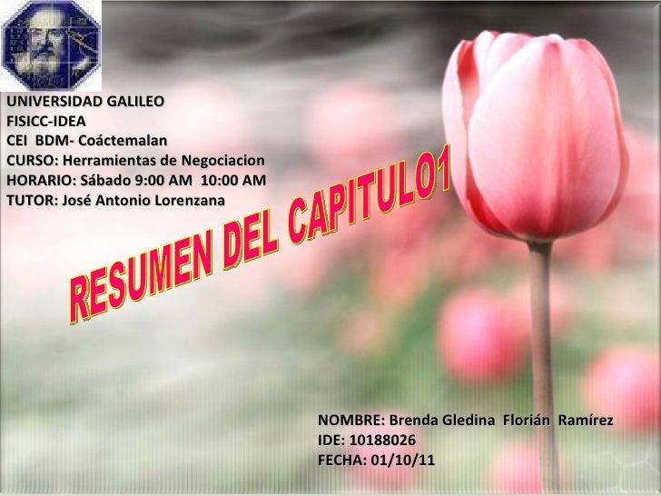 UNIVERSIDAD GALILEO FISICC-IDEA CEI  BDM- Coáctemalan CURSO: Herramientas de Negociacion HORARIO: Sábado 9:00 AM  10:00 AM...