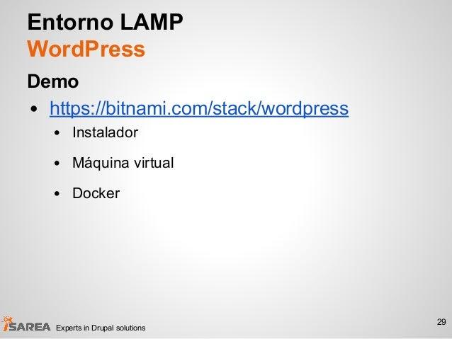 Entorno LAMP WordPress Demo • https://bitnami.com/stack/wordpress • Instalador • Máquina virtual • Docker 29 Experts in Dr...