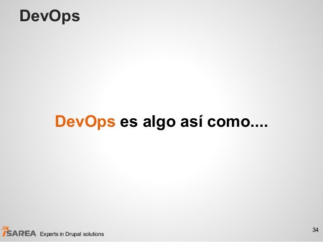DevOps 34 Experts in Drupal solutions DevOps es algo así como....