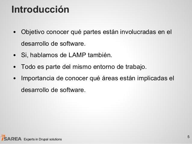 Introducción • Objetivo conocer qué partes están involucradas en el desarrollo de software. • Si, hablamos de LAMP también...