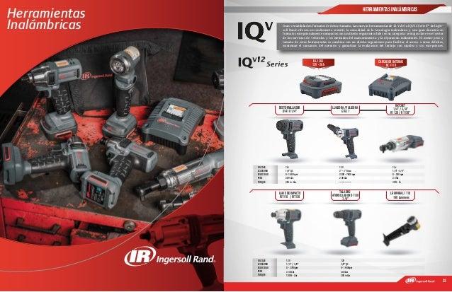 22 23 1 Gran versatilidad en formatos de menor tamaño; Las nuevas herramientas de 12 V de la IQV12 Series™ de Inger- soll ...