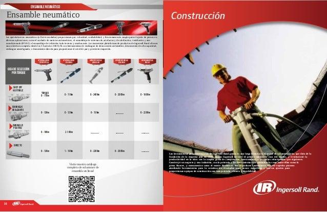 30 31 Construcción Las herramientas para construcción de Ingersoll Rand gozan de una larga historia en el sector de la con...