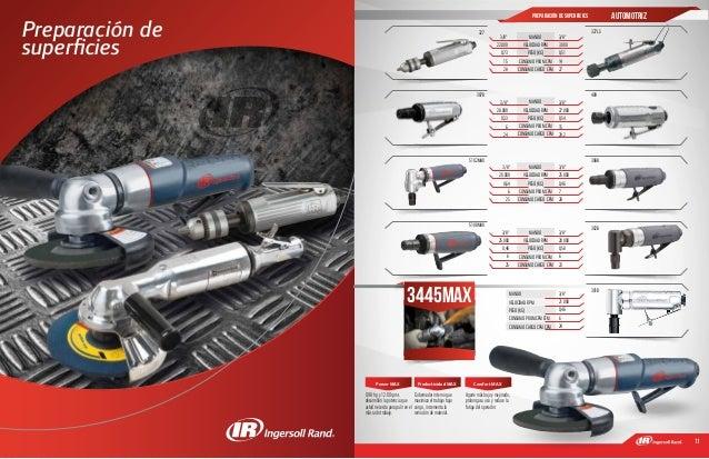10 11 Preparación de superficies 327 327LS 307B 409 301B 5102MAX 302B 308B 5108MAX Power MAX 0.98 hp y 12:00 rpms desarroll...