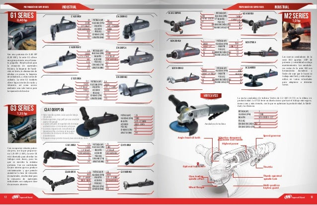 12 13 Preparación de superficies INdustrial pREPARACIÓN DE SUPERFICIES industrial POTENCIA(HP) VELOCIDAD(RPM) ENCASTRE ACC...