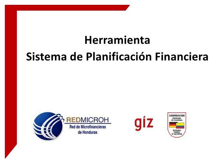 HerramientaSistema de Planificación Financiera