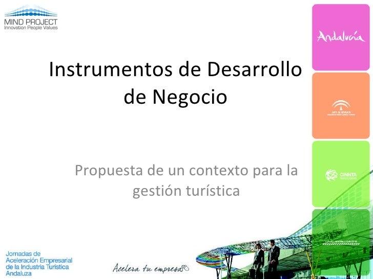 Instrumentos de Desarrollo de Negocio Propuesta de un contexto para la gestión turística