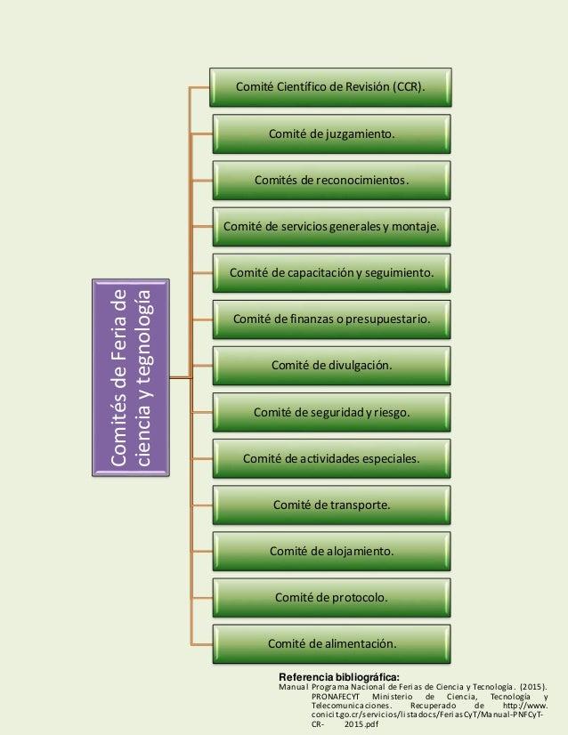 ComitésdeFeriade cienciaytegnología Comité Científico de Revisión (CCR). Comité de juzgamiento. Comités de reconocimientos...