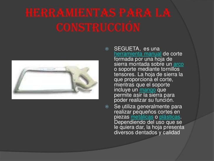Herramientas para la construccion for Herramientas que se utilizan en un vivero