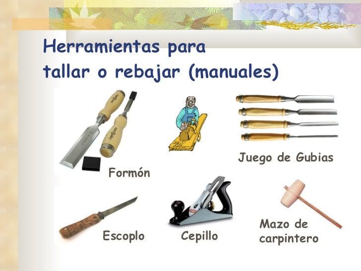 Herramientas para madera - Materiales de carpinteria ...