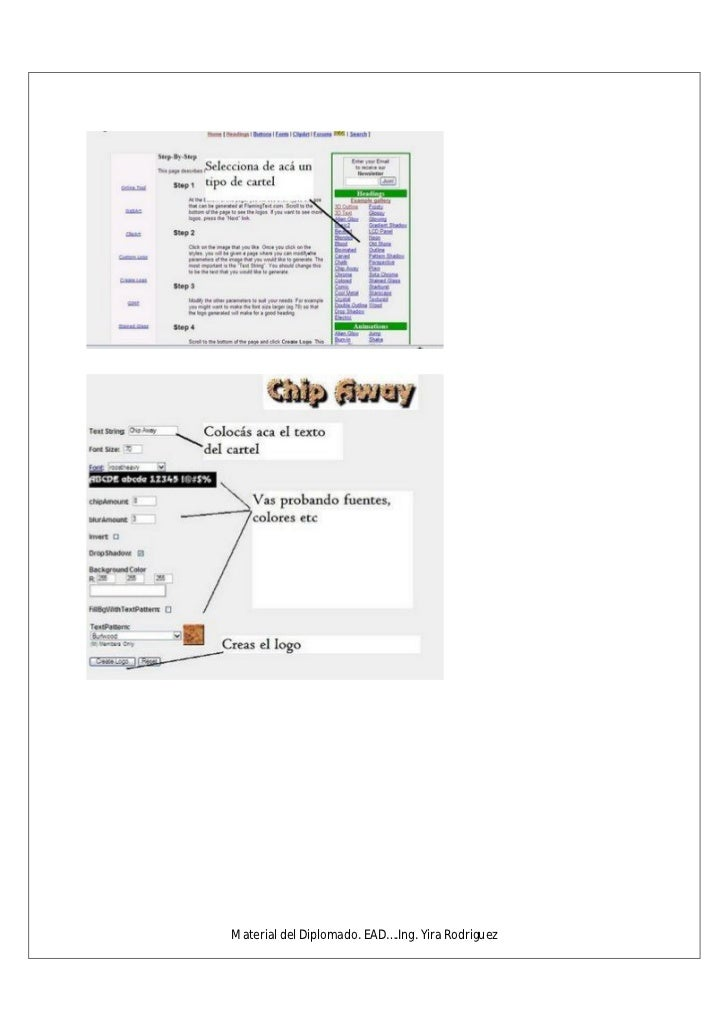 Herramientas a usar en los Entornos Virtuales de Aprendizajes