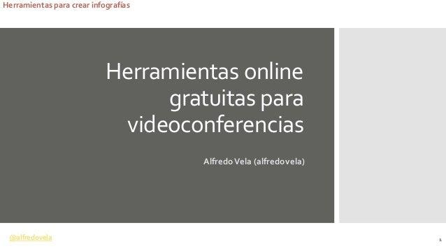 @alfredovela Herramientas para crear infografías Herramientas online gratuitas para videoconferencias AlfredoVela (alfredo...
