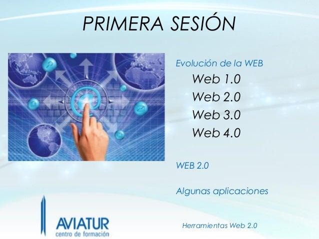PRIMERA SESIÓN        Evolución de la WEB           Web 1.0           Web 2.0           Web 3.0           Web 4.0        W...