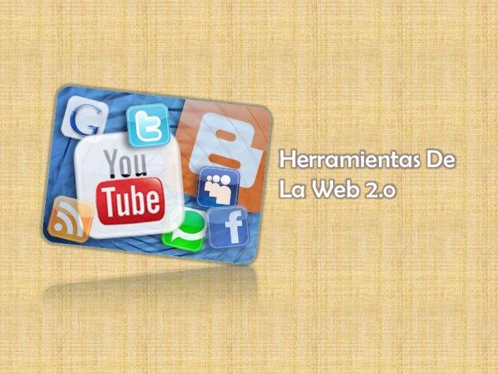 Herramientas DeLa Web 2.o