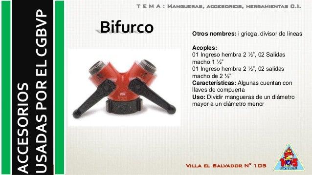 Herramientas y accesorios de bomberos for Accesorios para llaves de agua
