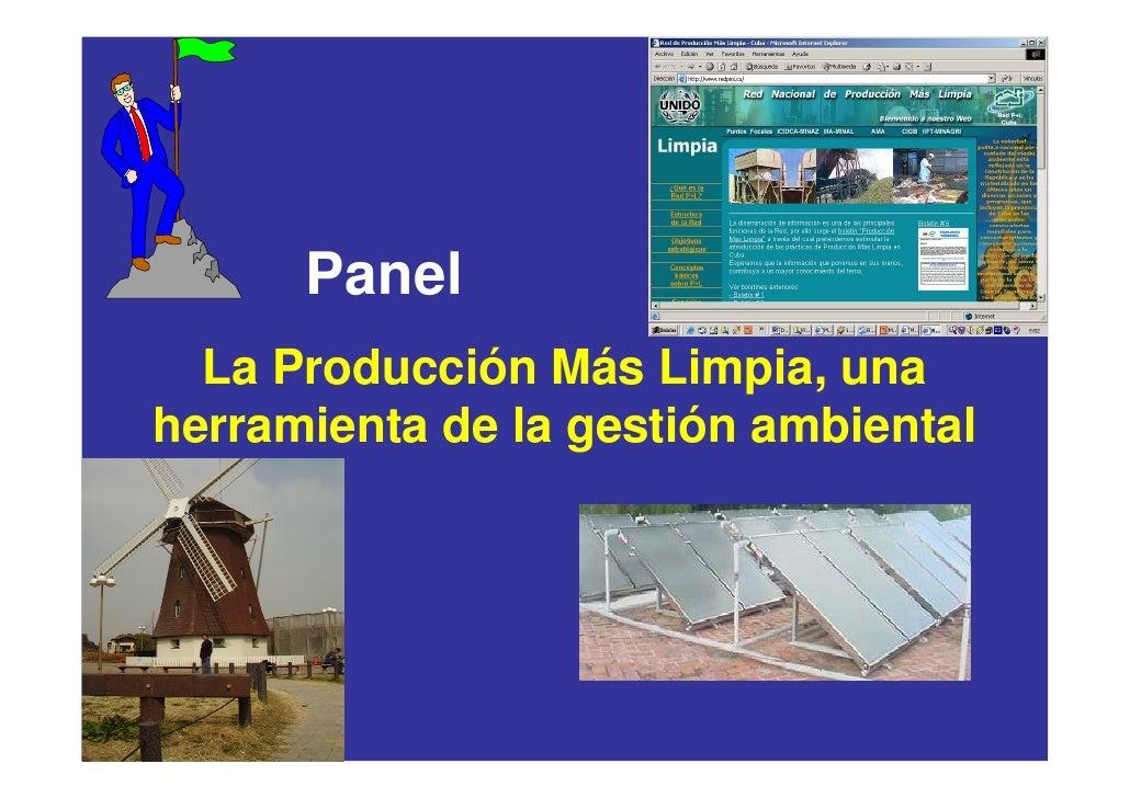 Panel   La Producción Más Limpia, una herramienta de la gestión ambiental