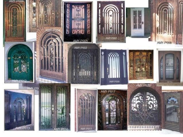 Herreria tipos de trabajos for Imagenes puertas de herreria para exterior