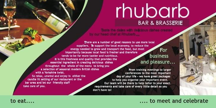 Herriots hotel with rhubarb restaurant brochure – Restarunt Brochure