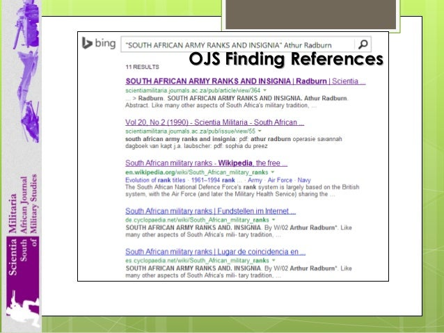 Hers sa academy 8 september 2014 workshop on scholarly journals ojs finding references 80 httporcid httporcid fandeluxe Image collections
