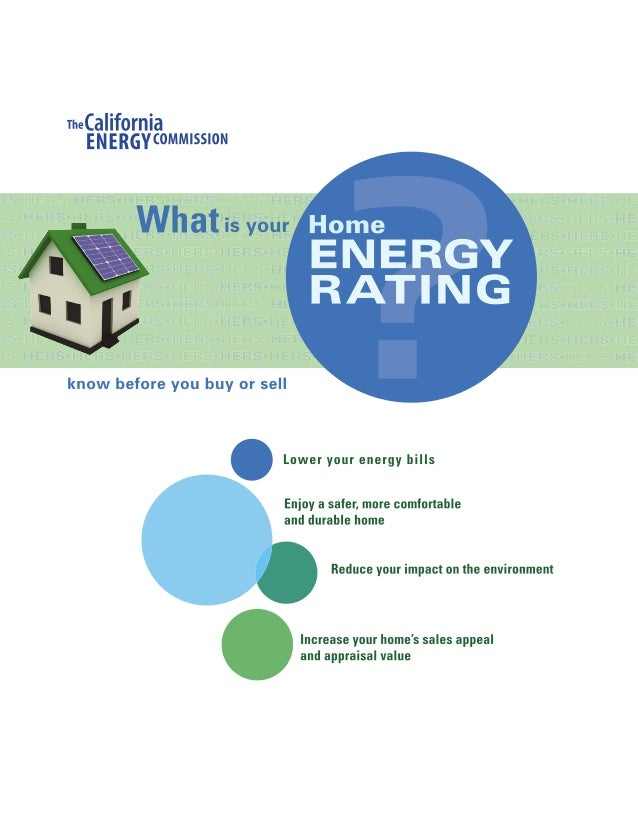 Chairman's Message 3 Know the Facts 4 What Is a Home Energy Rating? 5 Understanding Your HERS Index 6 HERS Recommendations...