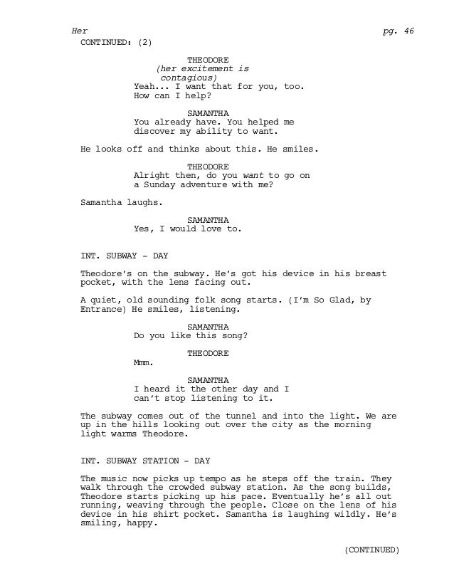 Her screenplay 45 continued continued 47 spiritdancerdesigns