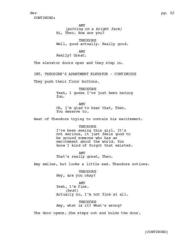 Her screenplay