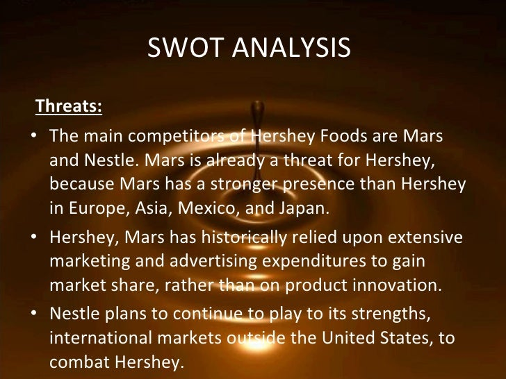 nestle swot chocolate Discuss swot analysis of nestle within the marketing  the chocolate market is at growth stage with very less competition so by introducing new brand and .