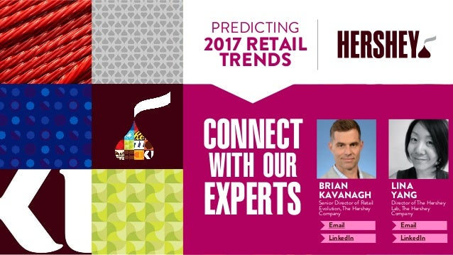 PREDICTING 2017 RETAIL TRENDS CONNECT WITH OUR EXPERTS BRIAN KAVANAGH Senior Director of Retail Evolution, The Hershey Com...