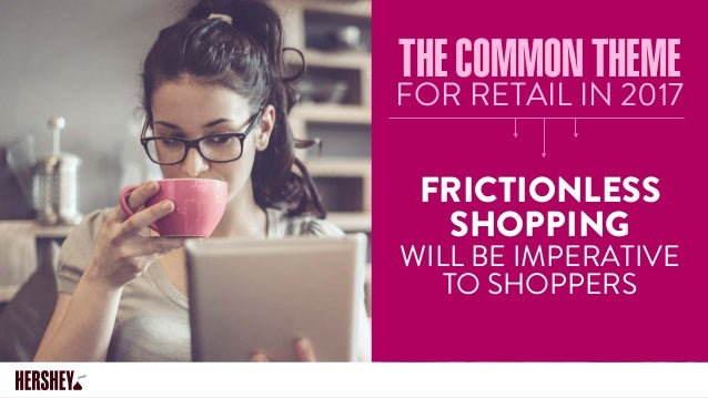 THECOMMONTHEME FOR RETAIL IN 2017 FRICTIONLESS SHOPPING WILL BE IMPERATIVE TO SHOPPERS