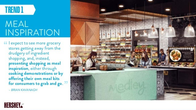 MEAL INSPIRATION I expect to see more grocery stores getting away from the drudgery of ingredient shopping, and, instead, ...